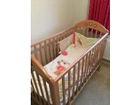 Matching Wooden Cot, Baby Changer and Full Nursery Accessory Bundle