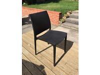 13 Maya black plastic chairs