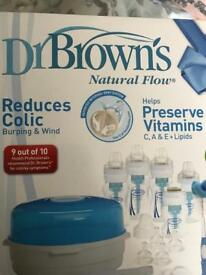 Dr Browns Bottles loads of them some new, steriliser etc