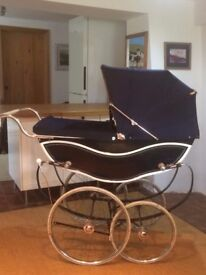 Coachbuilt Marmet Pram. Iconic Silver Cross styling and arguably better quality.