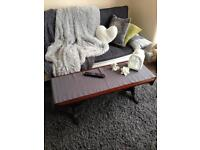 Long solid wood coffee table in Walthamstow E17