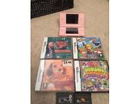 Nintendo pink Ds lite console and games