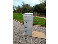 4 Drawer Home Office Filing Cabinet in Chalk