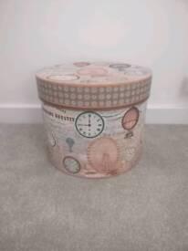 Large French style circular storage box