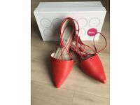 Women's red leather Boden shoes
