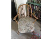 Blonde vintage ercol armchair