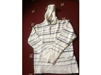 Stripy half white Blue inc second hand cardigon in a very good condition. just like new