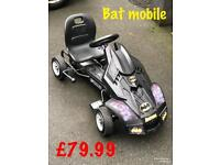 EXDISPLAY HAUCK BATMOBILE GO CART GO KART BATMAN NEVER USED OUT DOOR TOY NOW ONLY £79.99
