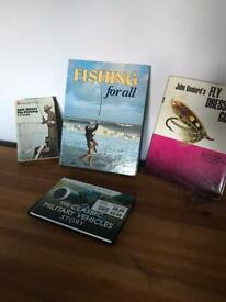 Fishing and Military Books