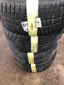 215/55/16 part worn tyres
