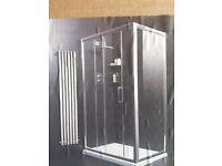 1000mm shower sliding door - 5mm toughened glass