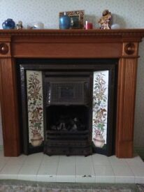 Cast iron fireplace with backplate