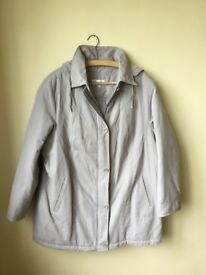 Ladies Plus Size 22 DESIGNER silver grey lightly padded jacket Perfect UNWORN