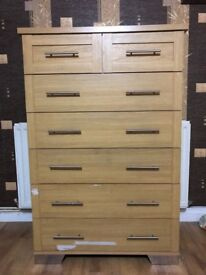 Chest of Drawer with 7 Drawers in Good Used Condition Very Strong FREE LOCAL DELIVERY
