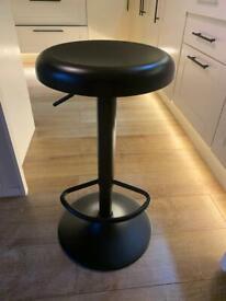 3 x black gas strut bar stools