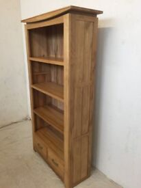 Natural Solid Oak Tall Bookcase