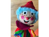 Hand crafted clown pop up baby toy
