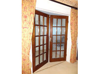 Solid hardwood French doors (2 sets of double) + 4 singles - fabulous quality!