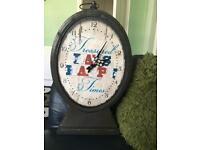 Big metal clock Treasured days happy times