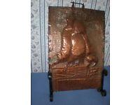 Antique Copper Fire Screen