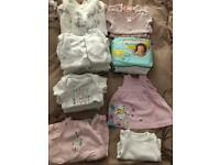 Tiny Baby Girl Clothes Bundle - Excellent Condition plus nappies!