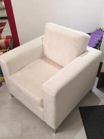 2 x Cream Armchairs