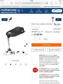 Silver cross pioneer travel system black graphite frame plus car seat base