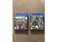 Far cry 4 £15, destiny £10 for ps4 excellent cond