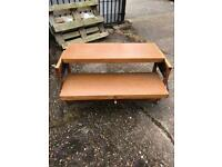 Vintage Besway Metamorphic Table/Drinks Trolley can be converted to Desk