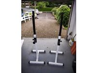 Weightlifting Equipment - Multi-bench, Squat Rack, Pull up bar, Various barbells and plates