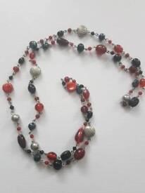 Vintage long flapper necklace