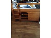 Solid pine cabin / mid sleeper bed