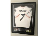 GENUINE hand signed Cristiano Ronaldo Real Madrid shirt from 2013/14 season with certificate of auth