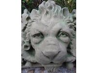 Architectural French Style Large Stone Lion Head Spout Plaque Water Feature