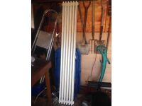 Old school style retro column triple radiator