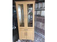 2 Tall Display Cabinets