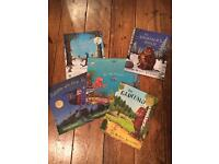 The Gruffalo, The Gruffalo's Child, Tiddler, Stick Man and Room on the Broom books
