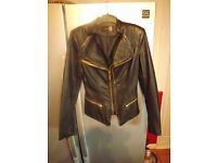 Ladies Leather Look Jacket.