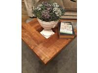 Unique old pine coffee table