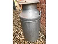 Aluminium milk churn very collectable as has the Horlicks stamp on the lid