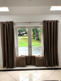 Curtains, fittings and cushion covers from Next (whole set)