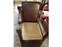 4 brown leather chairs and solid table
