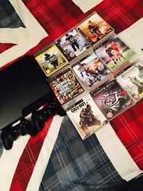 PS3 for sale , includes 9 games