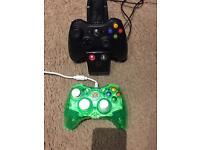 Xbox 360 controllers and docking station