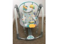 BARGAIN - HARDLY USED - TAGGIES PORTABLE SWING