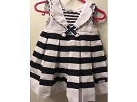 Brandnew Baby girl sailor dress 6 months old