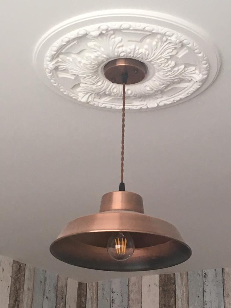 Industrial Copper Ceiling Light fitting