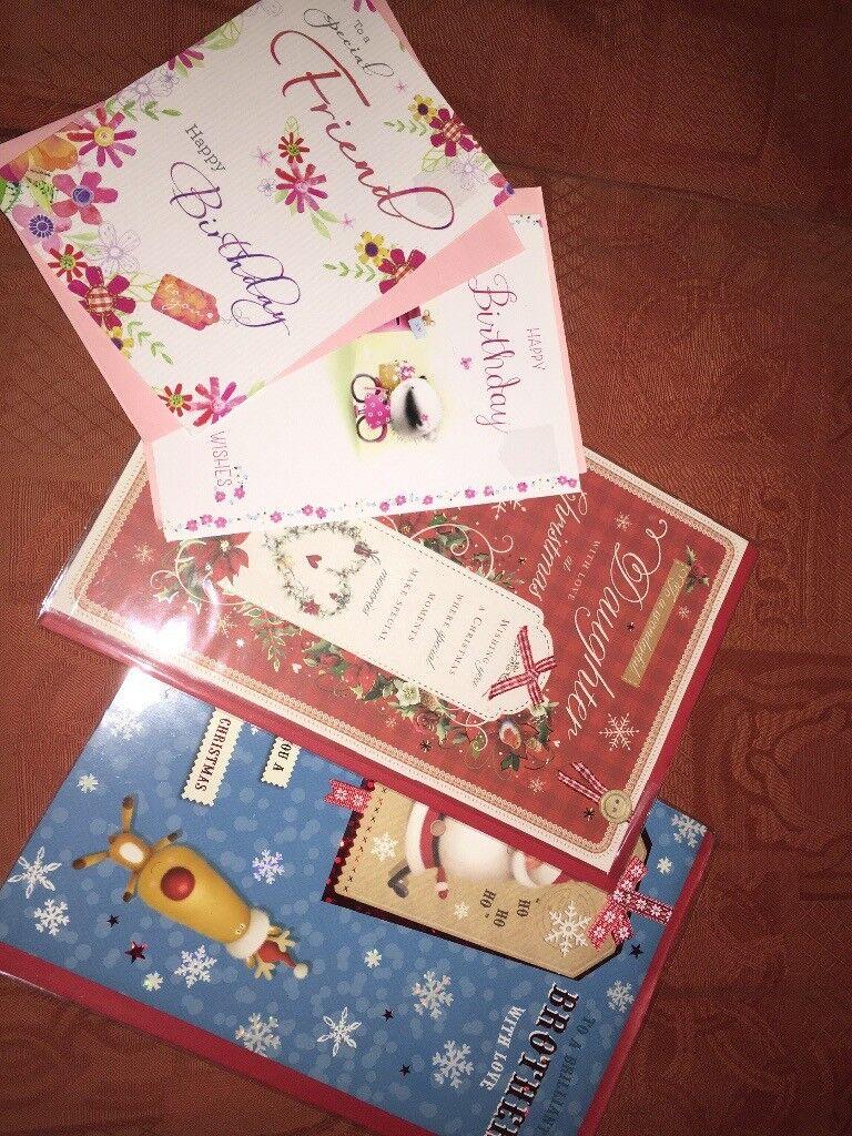 4 x cards, birthday and Christmas