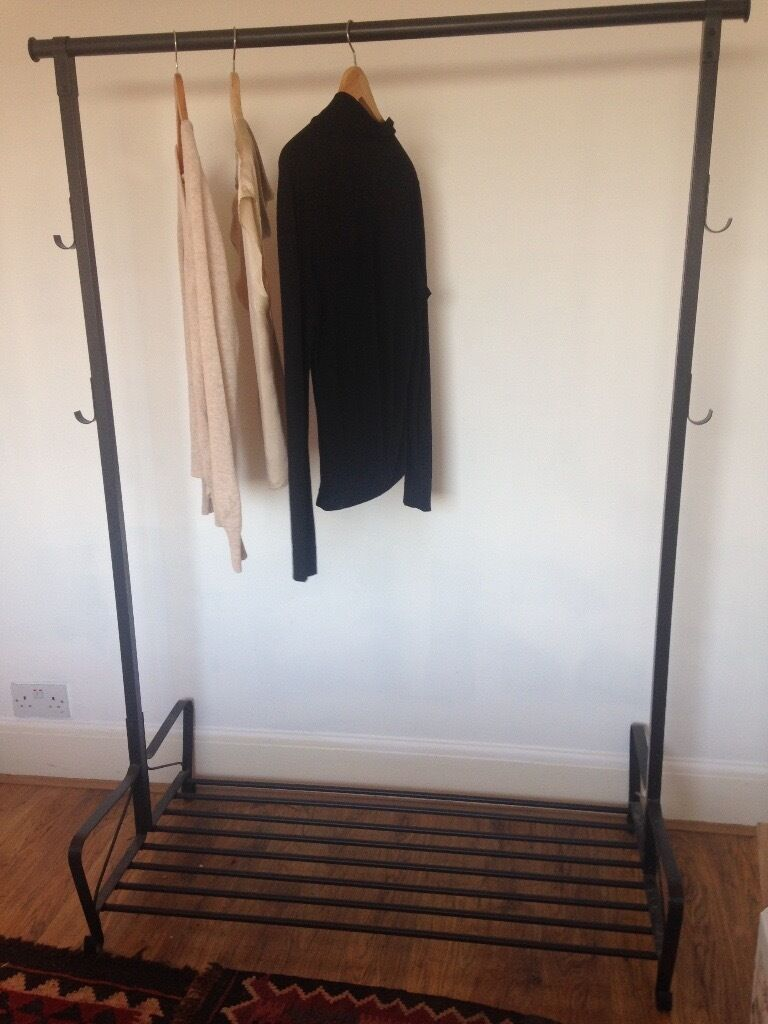clothes rail ikea portis clothes rack in hove east. Black Bedroom Furniture Sets. Home Design Ideas