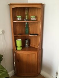 Ercol Windsor Elm Corner Unit-immaculate condition